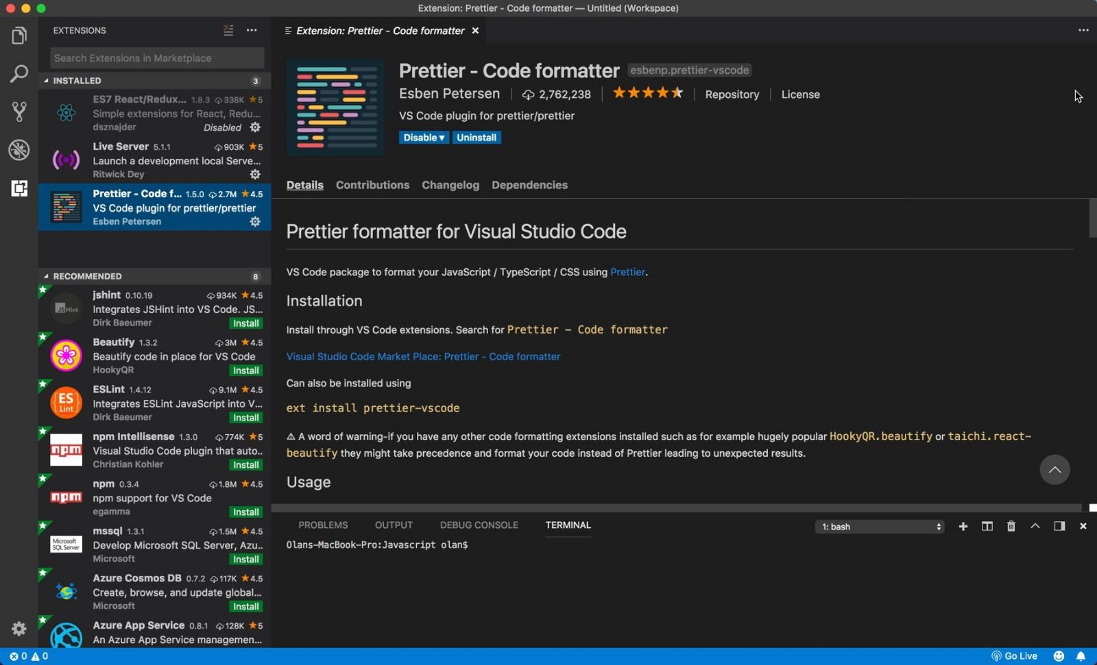 5 Extension สุดเจ๋ง ใน Visual Studio Code | School